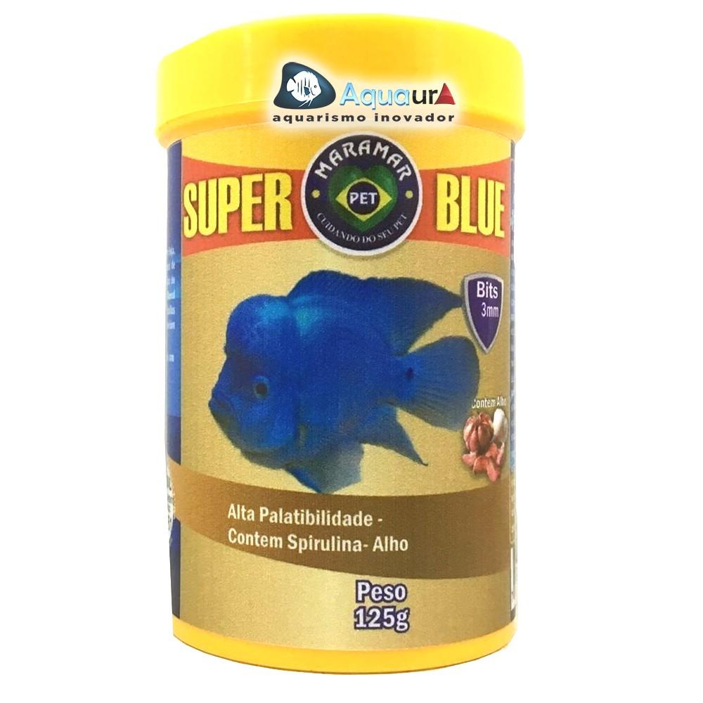 RAÇÃO MARAMAR FORTCOLLOR SUPER BLUE SOFT - Pote 125 Gr