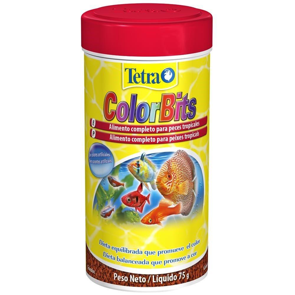 RAÇÃO TETRA COLORBITS - Pote 75 gr