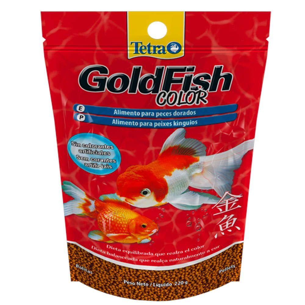 RAÇÃO TETRA GOLDFISH COLOR PELLETS - Sachê 220 gr