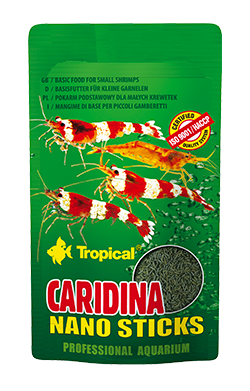 RAÇÃO TROPICAL CARIDINA NANO STICKS - Sachê 10 gr