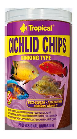 RAÇÃO TROPICAL CICHLID CHIPS - Pote 130 gr