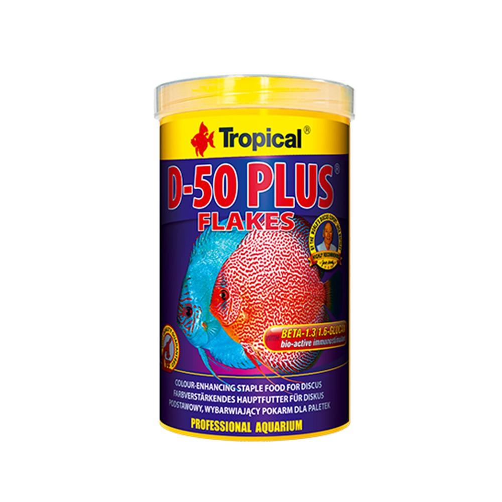 RAÇÃO TROPICAL D-50 PLUS FLAKES - Pote 50 gr