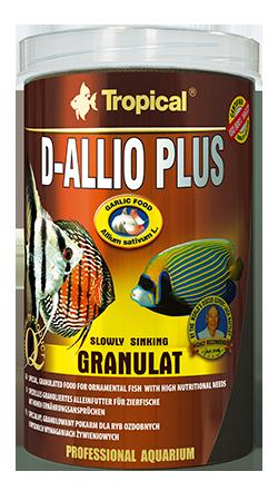 RAÇÃO TROPICAL D-ALLIO PLUS GRANULAT - Pote 150 gr