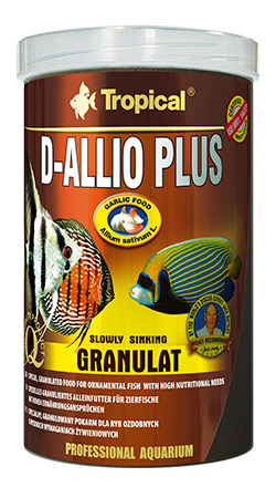 RAÇÃO TROPICAL D-ALLIO PLUS GRANULAT - Pote 60 gr