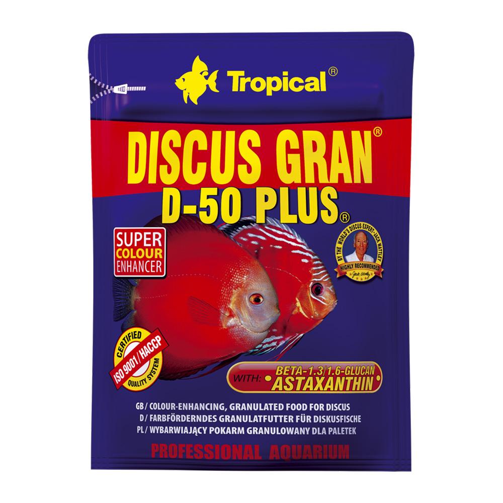 RAÇÃO TROPICAL DISCUS GRAN D-50 PLUS -  Doypack 20 gr