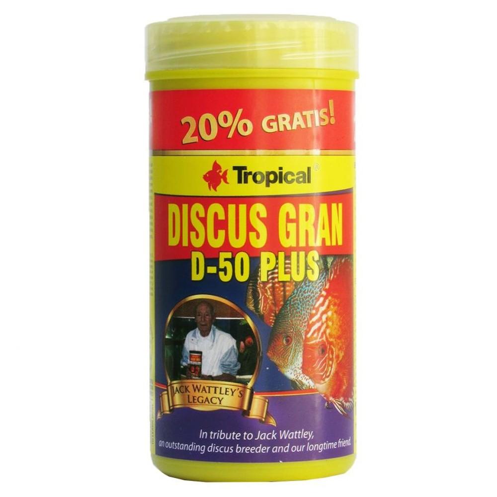 RAÇÃO TROPICAL DISCUS GRAN D-50 PLUS - Pote 110g + bônus 20% = 132 gr