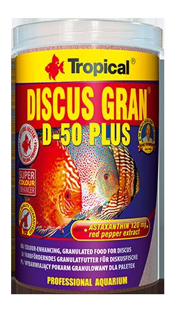 RAÇÃO TROPICAL DISCUS GRAN D-50 PLUS - Pote 38 gr