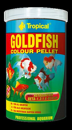 RAÇÃO TROPICAL GOLDFISH COLOUR PELLET - Pote 300 gr + bônus 20% = 360 gr
