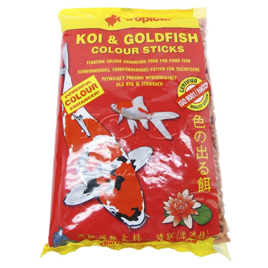 RAÇÃO TROPICAL KOI & GOLDFISH COLOUR STICKS - Bag 90 gr