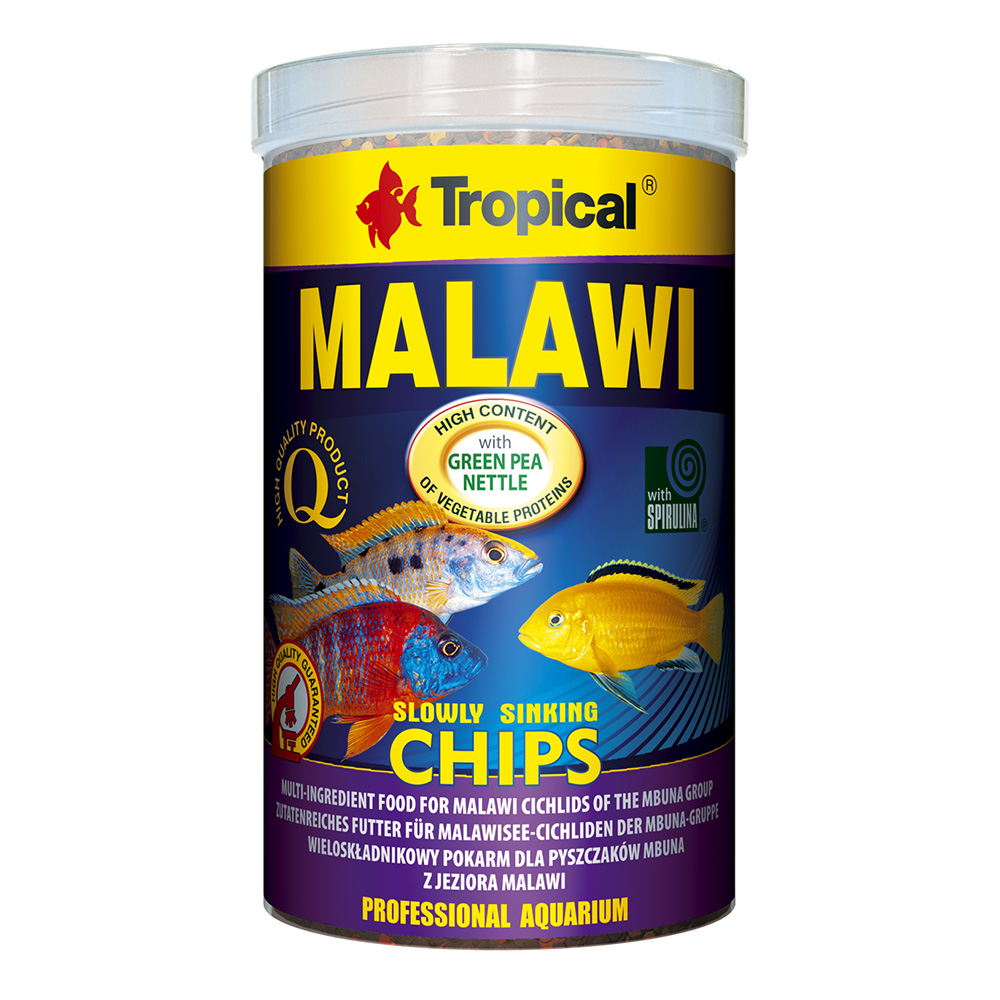 RAÇÃO TROPICAL MALAWI CHIPS - Pote 130 gr