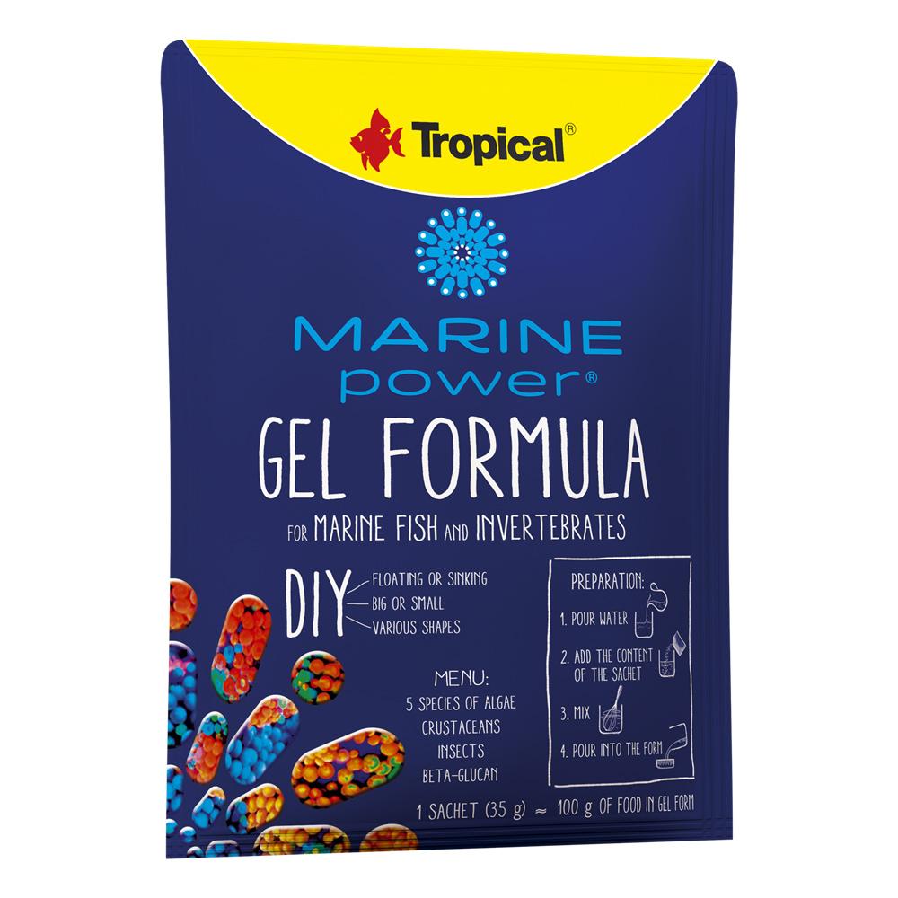 RAÇÃO TROPICAL MARINE POWER GEL FORMULA - Sachê 35 gr