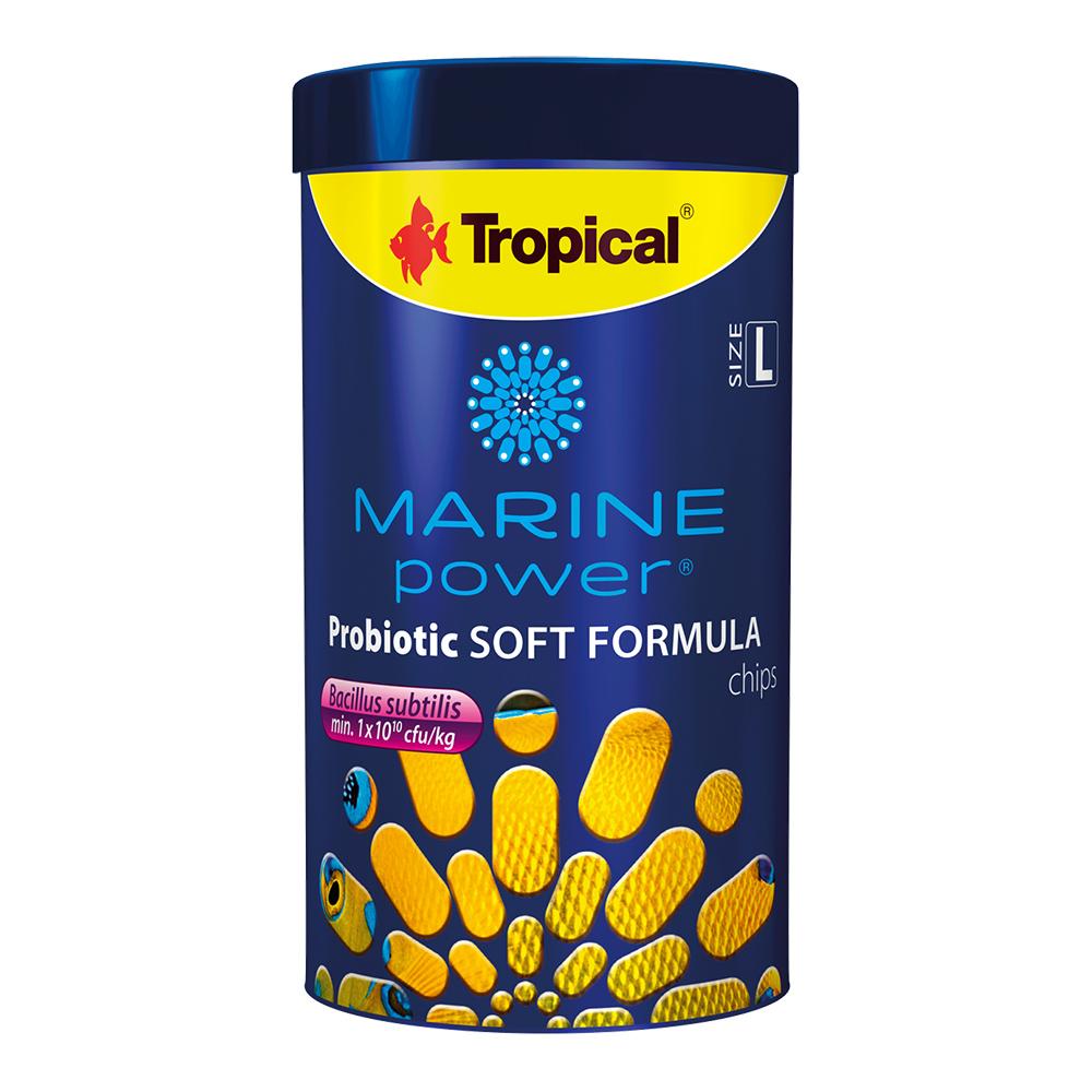 RAÇÃO TROPICAL MARINE POWER PROBIOTIC SOFT FORMULA CHIPS SIZE L - 130 gr