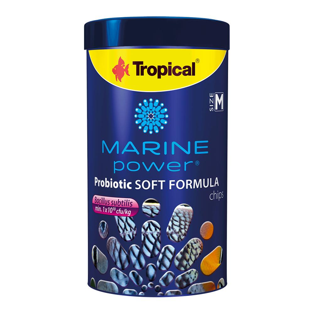 RAÇÃO TROPICAL MARINE POWER PROBIOTIC SOFT FORMULA CHIPS SIZE M - 130 gr