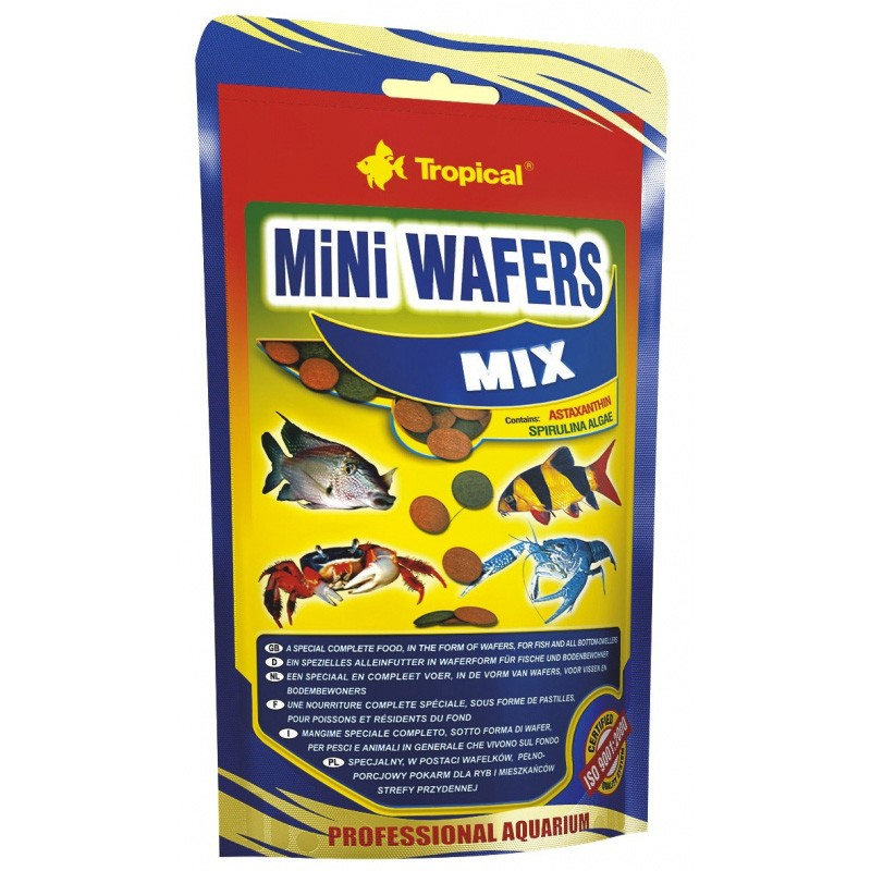 RAÇÃO TROPICAL MINI WAFERS MIX - Doypack 18 gr