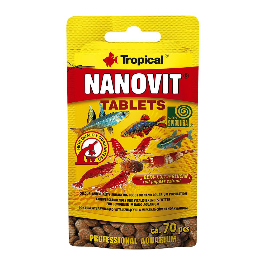 RAÇÃO TROPICAL NANOVIT TABLETS - Sachê 10 gr