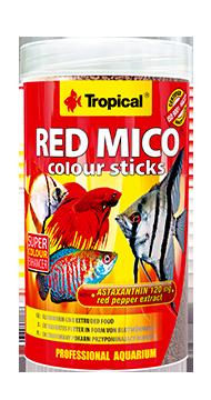 RAÇÃO TROPICAL RED MICO COLOUR STICKS - Pote 80 gr
