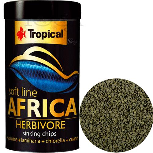 RAÇÃO TROPICAL SOFT LINE AFRICA HERBIVORE - Pote 130 gr