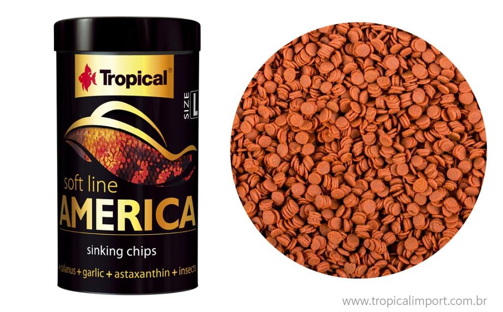 RAÇÃO TROPICAL SOFT LINE AMERICA CHIPS - Pote 130 gr