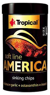 RAÇÃO TROPICAL SOFT LINE AMERICA CHIPS - Pote 52 gr