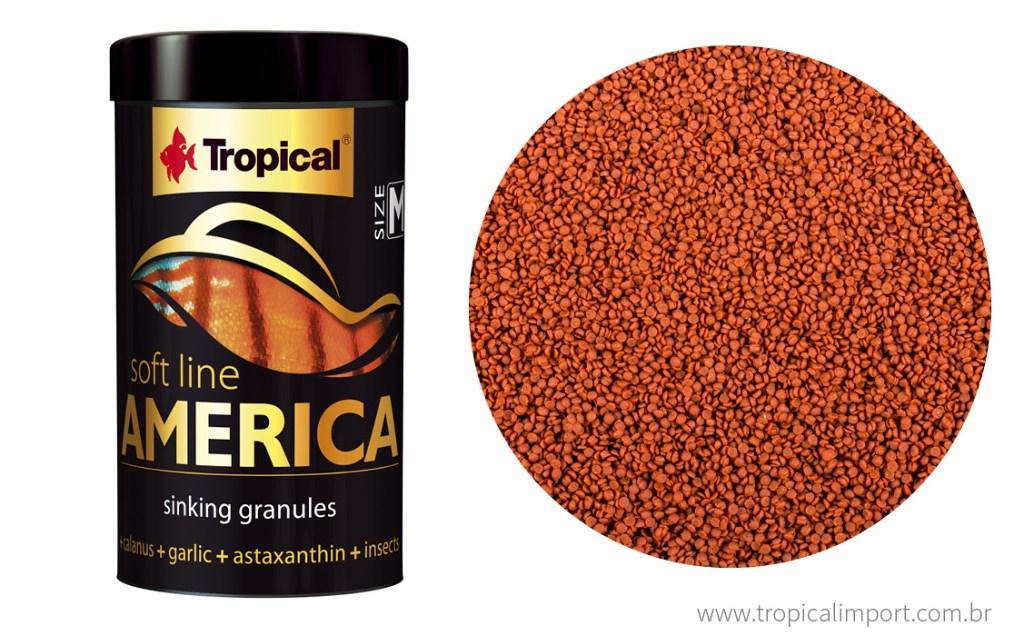 RAÇÃO TROPICAL SOFT LINE AMERICA GRANULADA - Pote 60 gr