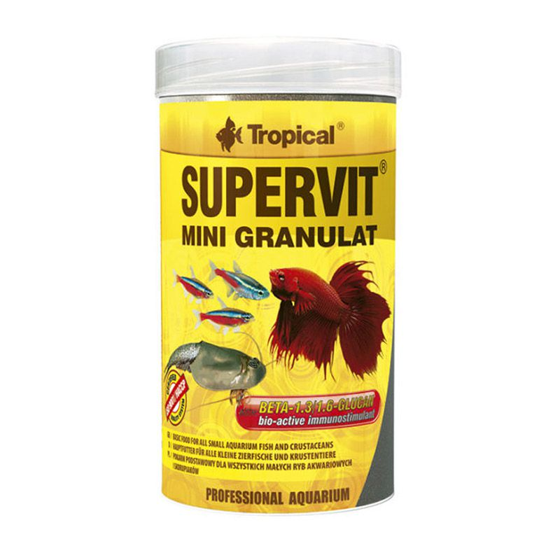 RAÇÃO TROPICAL SUPERVIT MINI GRANULAT - Pote 65 gr