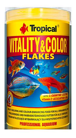 RAÇÃO TROPICAL VITALITY & COLOR FLAKES - Pote 100 gr