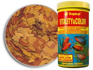 RAÇÃO TROPICAL VITALITY & COLOR FLAKES - Pote 50 gr