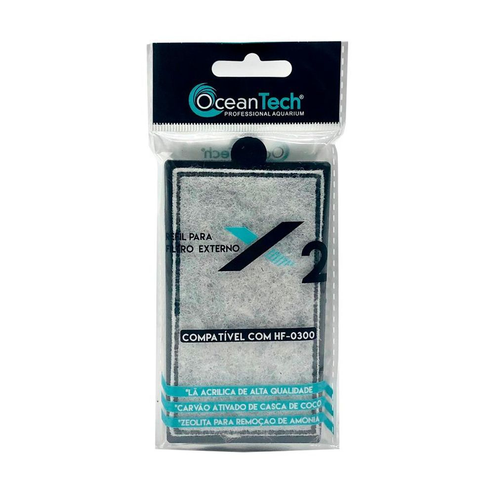 REFIL PARA FILTRO EXTERNO TIPO HANG ON OCEAN TECH HF-300