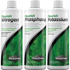 SEACHEM PLANT PACK ENHANCER NPK (Flourish Nitrogênio + Flourish Fósforo + Flourish Potássio)