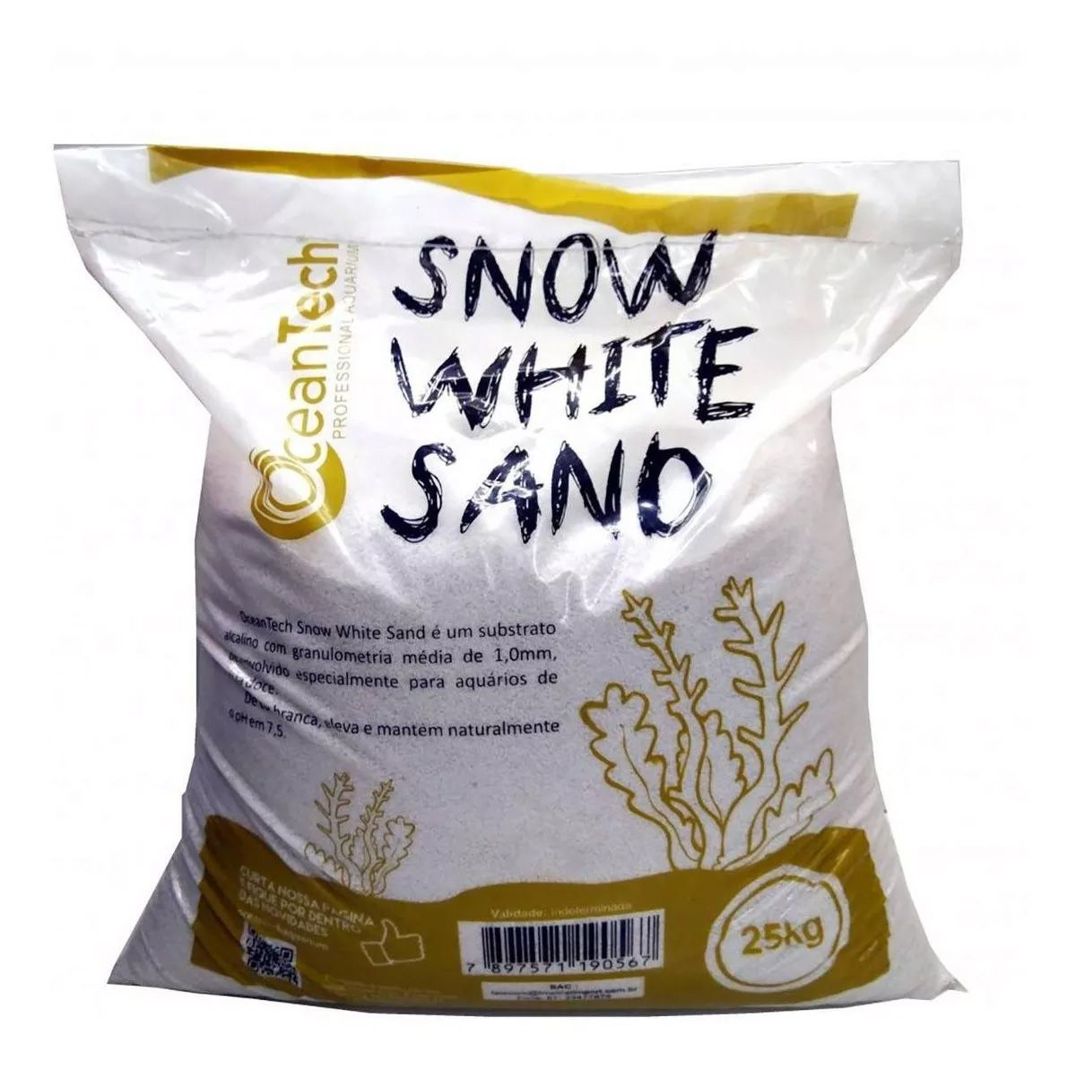 SUBSTRATO INERTE SNOW WHITE OCEAN TECH - 25 Kg