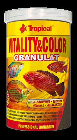 RAÇÃO TROPICAL VITALITY & COLOR GRANULAT - Pote 55 gr