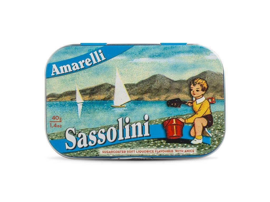 Alcaçuz Macio Aromatizado com Aniz Sassolini AMARELLI 40gr