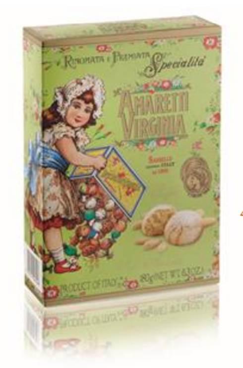 Amaretti Macio Virginia - Rinomata e Premiata Specialita Soft Amaretti - Caixa - 180gr