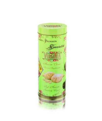 Amaretti Macio Virginia - Rinomata e Premiata Specialita Soft Amaretti - Lata Ouro Verde - 140gr