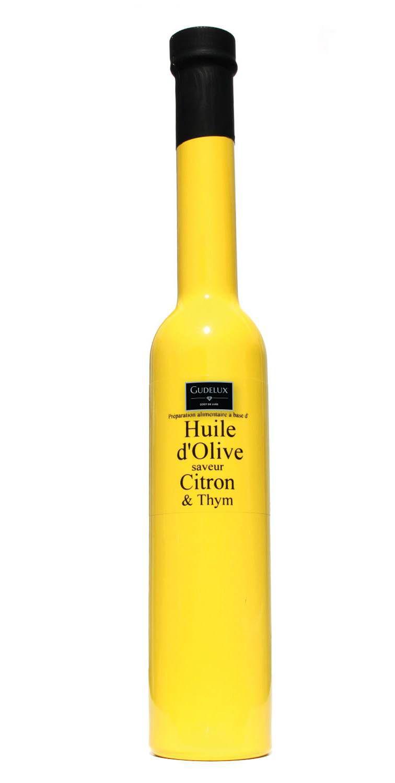 Azeite de Oliva E.V. Francês  Limão e Tomilho Gudelux 200ml