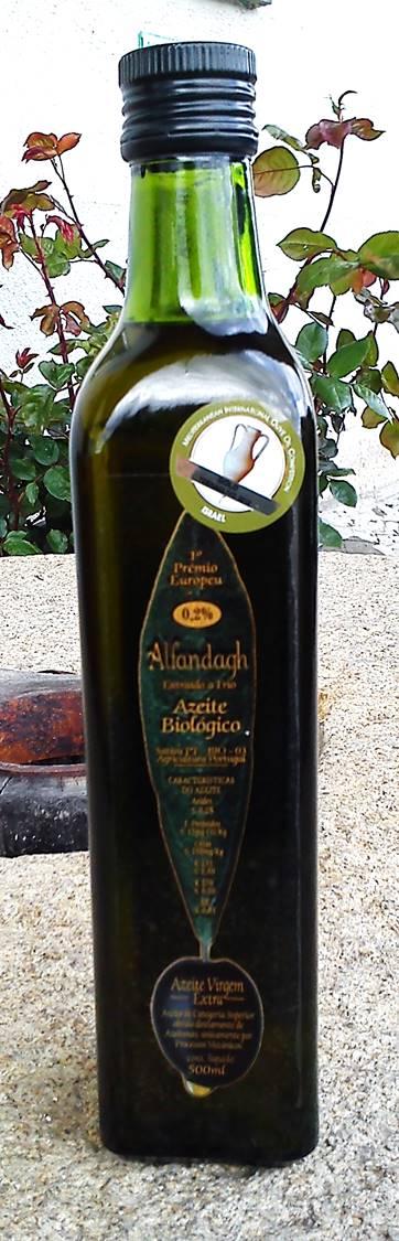 Azeite Extra Virgem Orgânico Alfandagh 500ml (Acidez Máx. 0,2%)