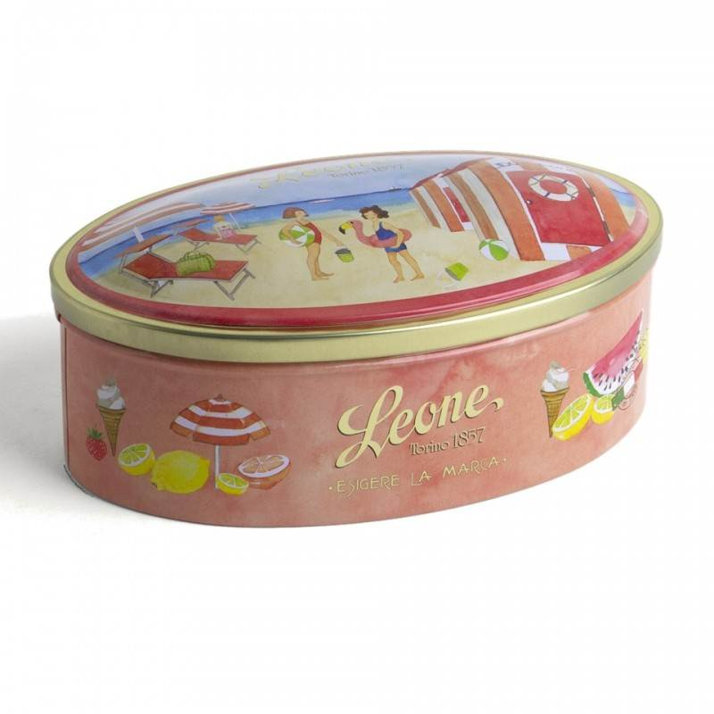 Balas de Geleia de Frutas e Caramelos  Leone Lata 100gr - Consultar Cores