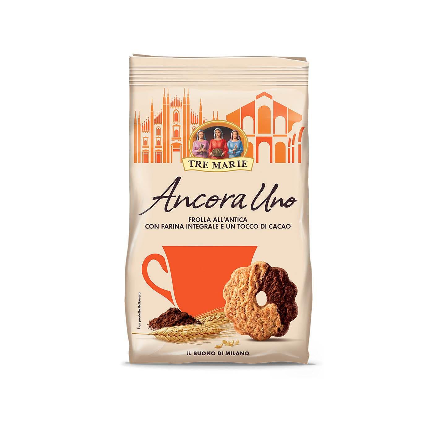 Biscoito Frolla All Antica Integrale con Cacao Ancora Uno 300gr