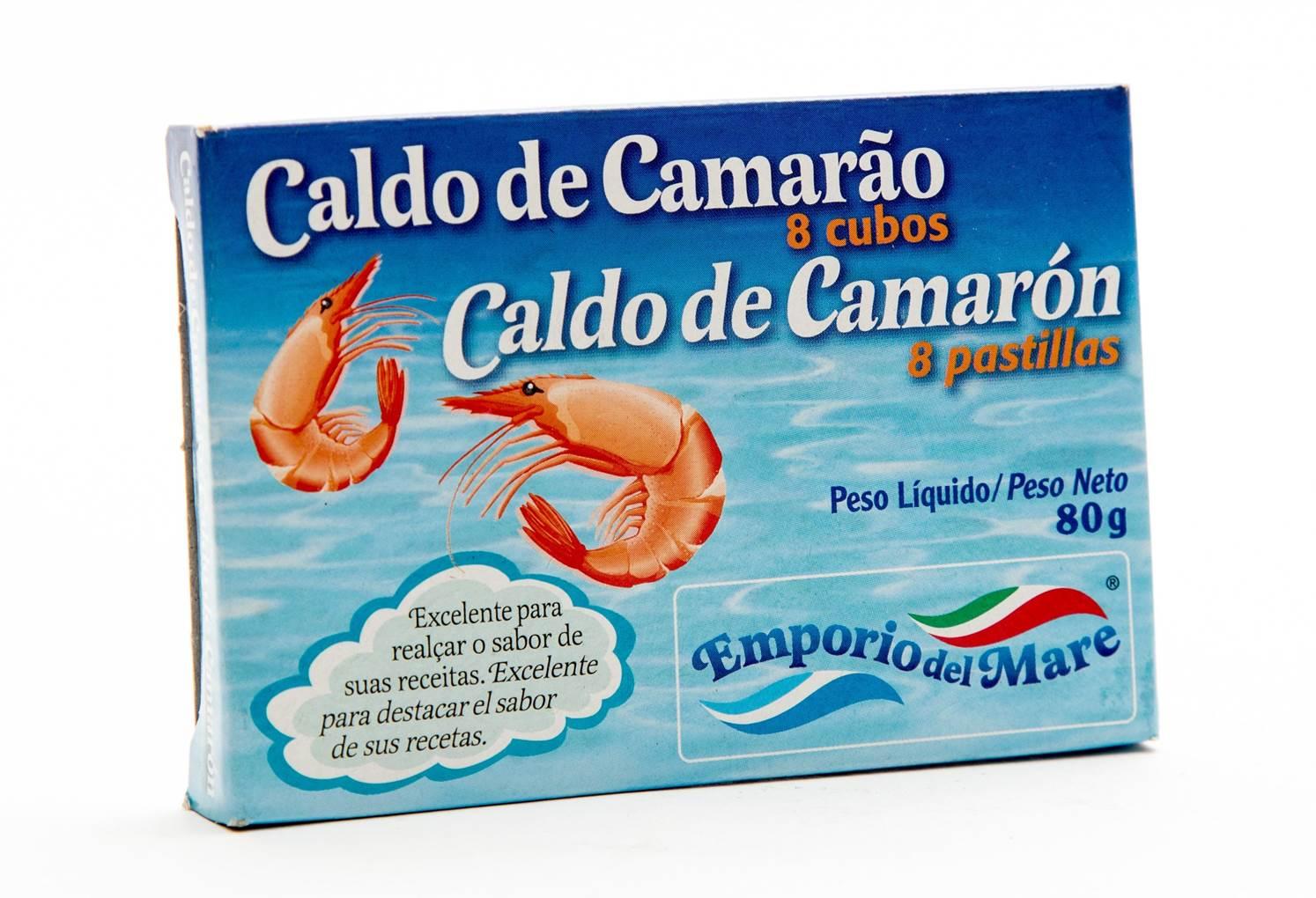 Caldo de Camarão c/8 Tabletes Emporio Del Mare 80gr