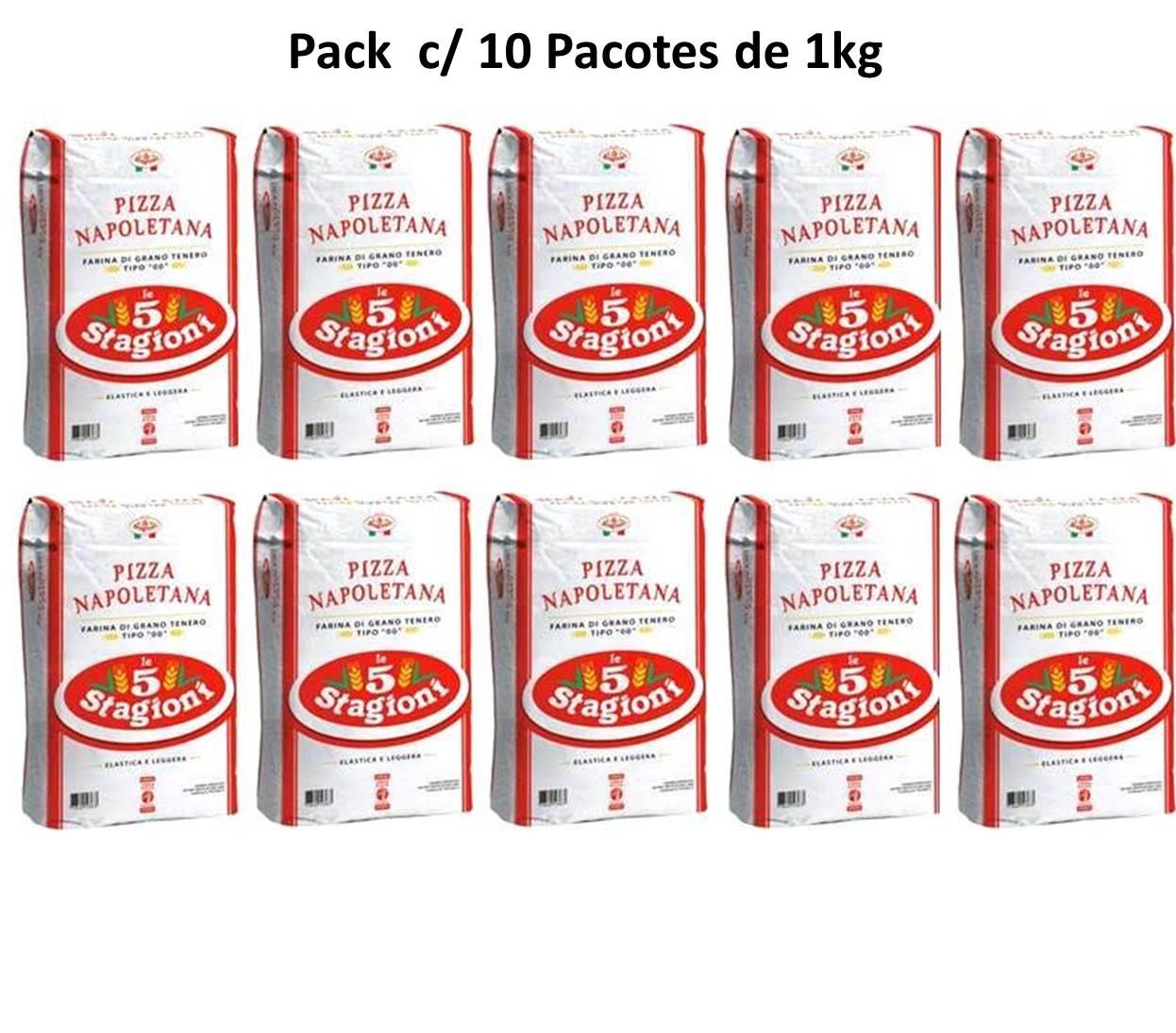 Farinha 00 Napolitana Le 5 Stagioni - Pack c/ 10 pacotes de 1kg