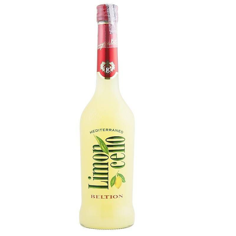 "Licor Fino de Limão ""Limoncello Mediterrâneo"" Beltion 700ml"