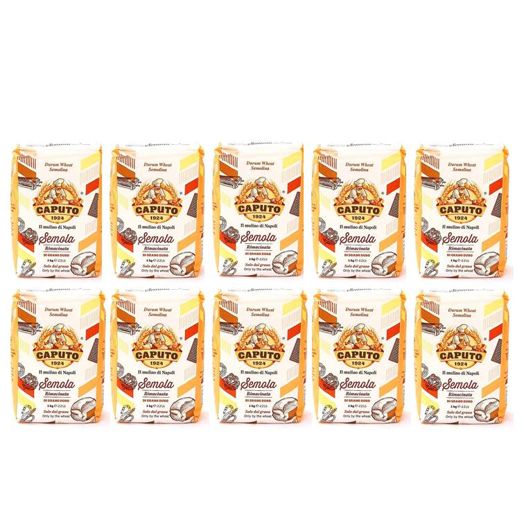 Farinha Semola Di Grano Duro Rimacinata Caputo - Pack c/ 10 pacotes de 1kg