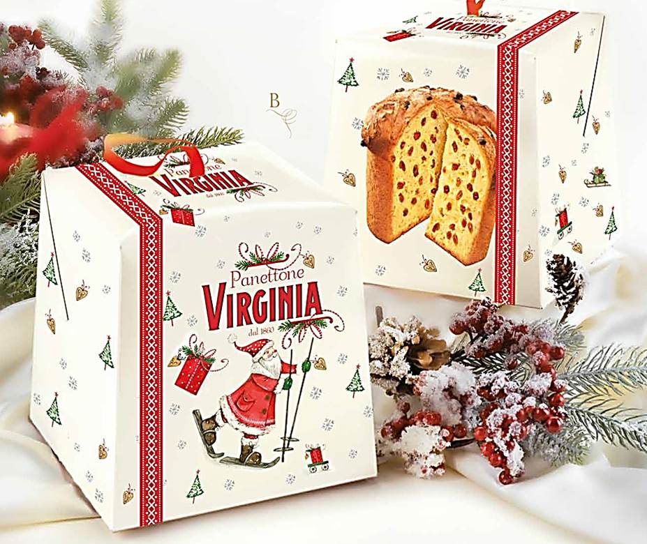Panetone Caixa Santa Claus 500gr - VIRGINIA