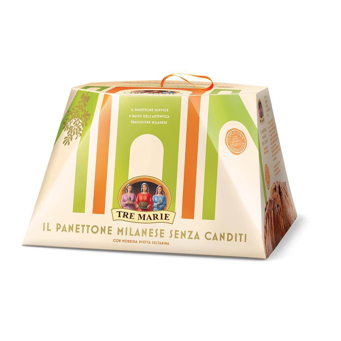 Panetone Milanese Senza Canditi Tre Marie 1kg