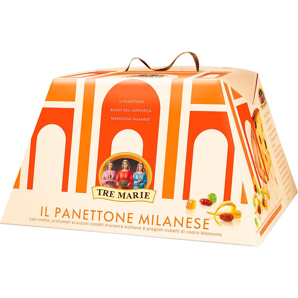 Panetone Italiano Milanese Tre Marie 750gr