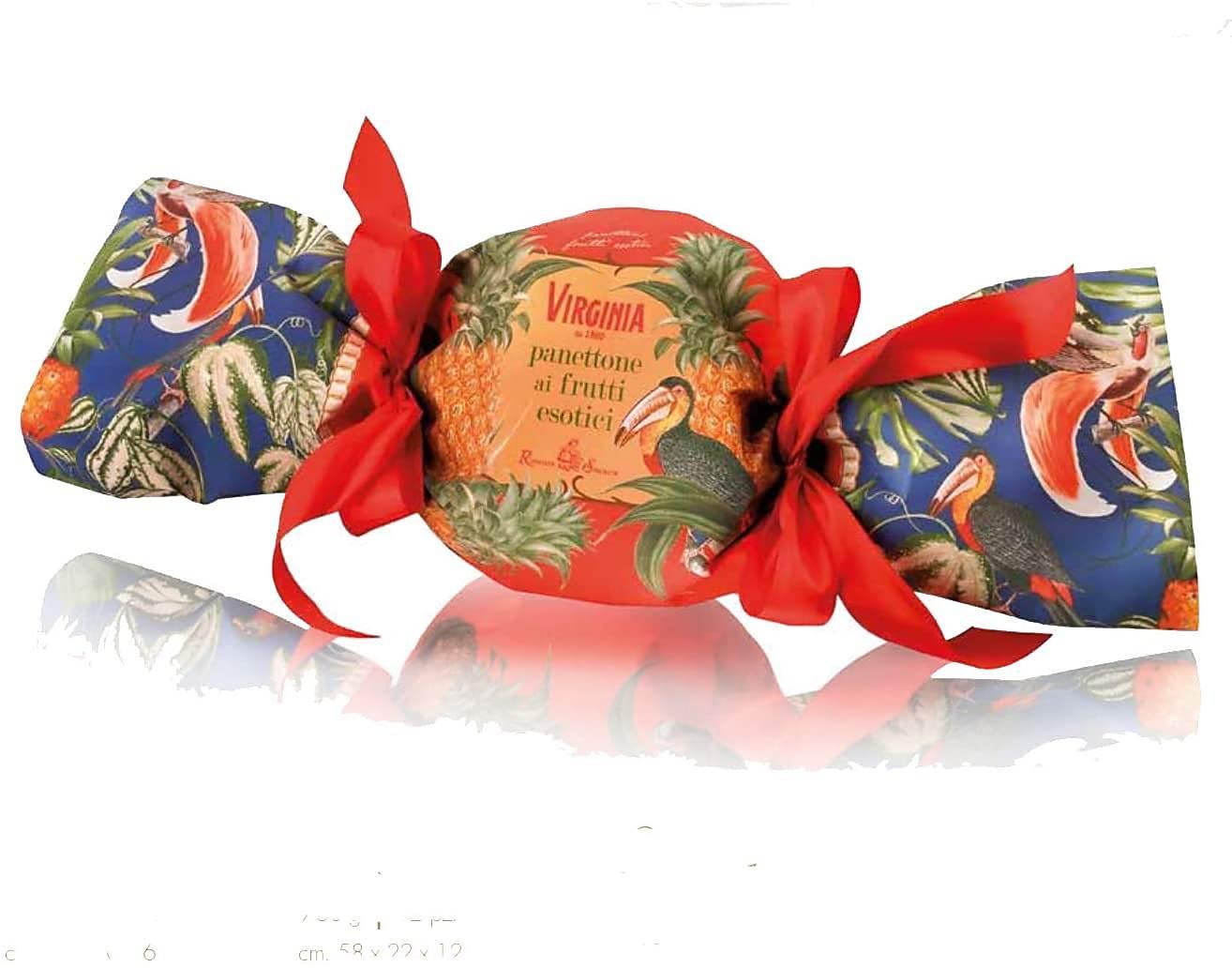 Panettone Frutas Exóticas Embrulho de Bombom 750gr - Abacaxi-Goiaba-Mamão - VIRGINIA