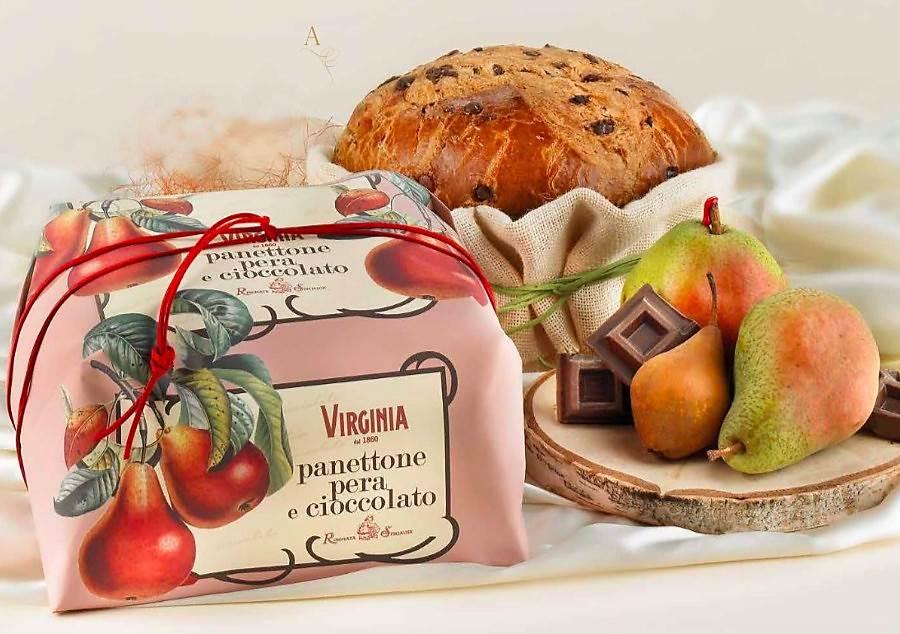 Panettone Italiano Pera e Chocolate  Embalado a Mão 1kg - VIRGINIA