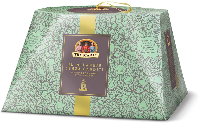 Panettone Milanese Senza Canditi In Cofanetto 1kg - TRE MARIE