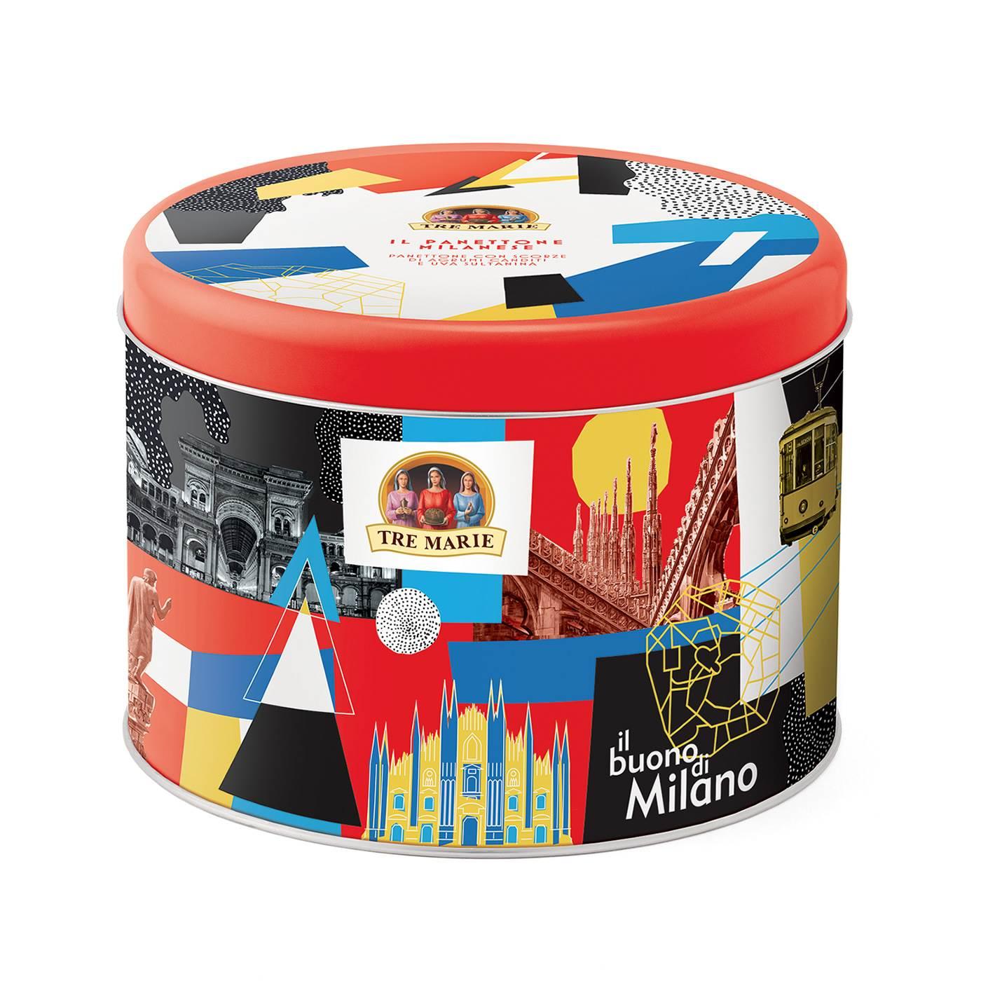 Panettone Milanese Tradicional Tre Marie LATA POP ART 750gr