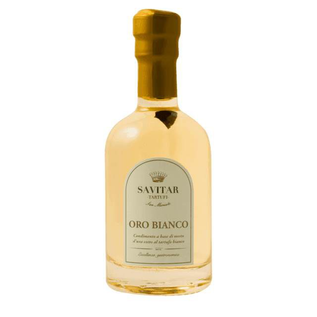 Vinagre Balsâmico Oro Bianco Ao Tartufo Branco Savitar 100ml